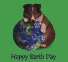Happy Earth Day Sheltie Kids Tee