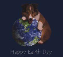 Happy Earth Day Sheltie Kids Tee