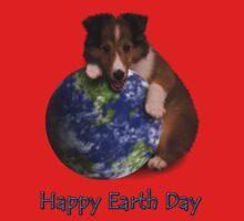 Happy Earth Day Sheltie Baby Tee