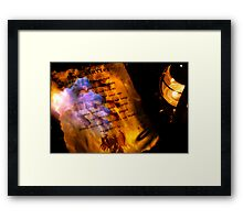 Firestarter (a page from the book of shadows) V2 Framed Print