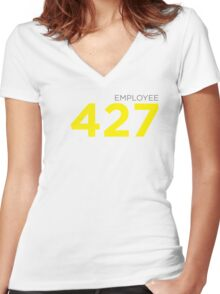 Employee 427 Women's Fitted V-Neck T-Shirt