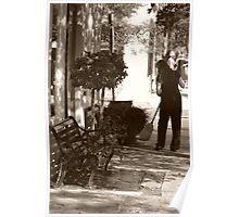 Early Morning Street Scene Poster
