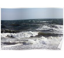 Waves at Orient Point Poster