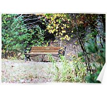 Lonely bench Poster
