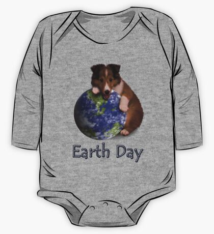 Earth Day Sheltie One Piece - Long Sleeve