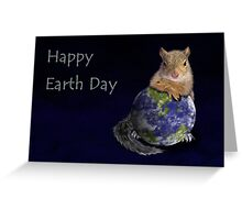 Happy Earth Day Squirrel Greeting Card