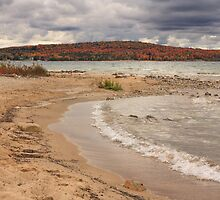 Fall colors over Lake Charlevoix from Young State Park by DArthurBrown