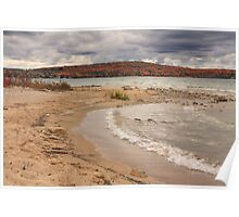 Fall colors over Lake Charlevoix from Young State Park Poster
