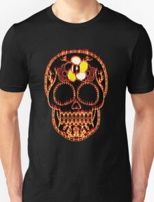 Flaming Day of the Dead Skull  Unisex T-Shirt
