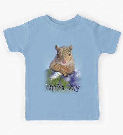 Earth Day Squirrel Kids Tee