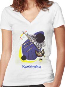 Kandinsky - Small World Women's Fitted V-Neck T-Shirt