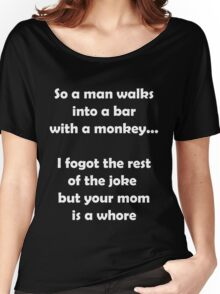 So A Man Walks Into A Bar... Women's Relaxed Fit T-Shirt
