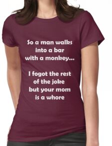 So A Man Walks Into A Bar... Womens Fitted T-Shirt