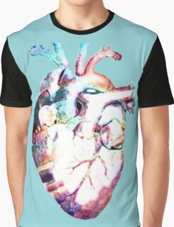 Anatomy - Heart Watercolor Graphic T-Shirt