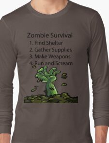 Zombie Survival Long Sleeve T-Shirt