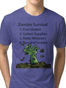 Zombie Survival Tri-blend T-Shirt