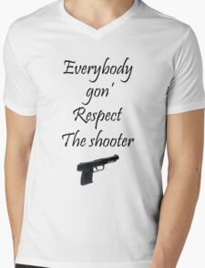 The Shooter Mens V-Neck T-Shirt