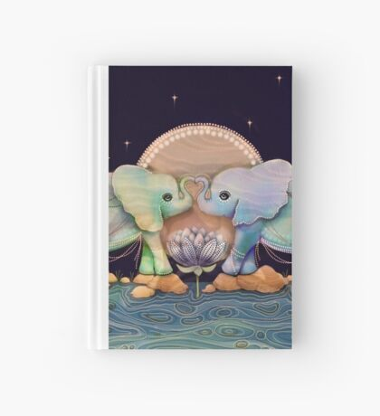 Lotus Flower Elephants of the Rainbow Hardcover Journal