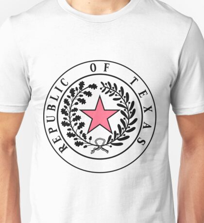 Texas PINK N BLACK | State Seal | SteezeFactory.com Unisex T-Shirt