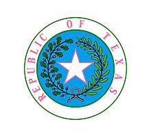 Texas Barbie | State Seal | SteezeFactory.com Photographic Print