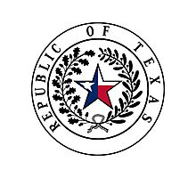 Texas Flag | State Seal | SteezeFactory.com Photographic Print