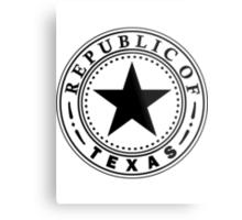 Texas 1836 | State Seal | SteezeFactory.com Metal Print
