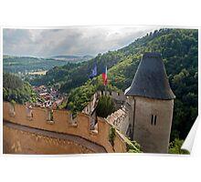 Karlstejn castle. Poster