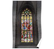 Medieval vitraux. Poster