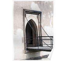 Medieval castle door. Poster