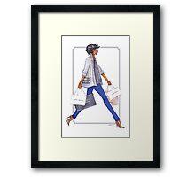 Off to Shop Framed Print