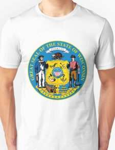 Wisconsin | State Seal | SteezeFactory.com Unisex T-Shirt