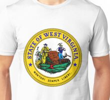 West Virginia WVU Edition | State Seal | SteezeFactory.com Unisex T-Shirt