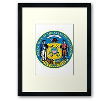Wisconsin | State Seal | SteezeFactory.com Framed Print