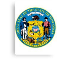 Wisconsin | State Seal | SteezeFactory.com Canvas Print