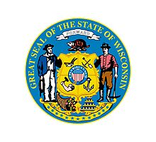 Wisconsin | State Seal | SteezeFactory.com Photographic Print
