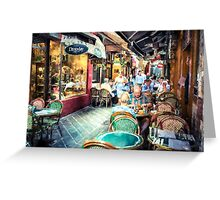 Block Place  Cafe - Melbourne, Australia     (PC1RW) Greeting Card