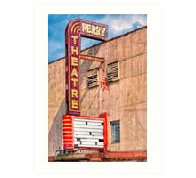 Perry Theatre - Small Town Georgia Marquee Art Print