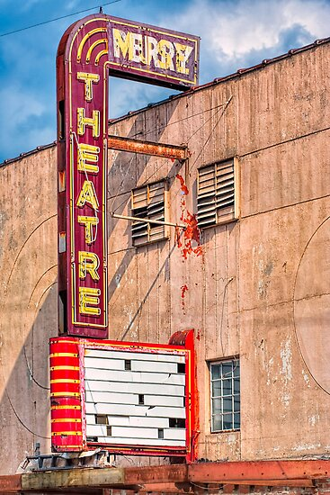 Perry Theatre - Small Town Georgia Marquee by Mark Tisdale
