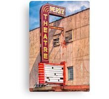 Perry Theatre - Small Town Georgia Marquee Canvas Print
