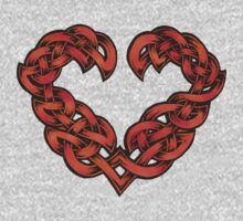 Celtic Heart - Red by portiswood