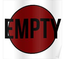 Empty (Red) Poster