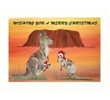 'HOPPING CHRISTMAS' Art Print