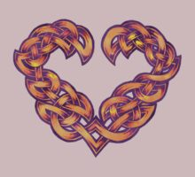 Celtic Heart - Gold with Purple trim by portiswood