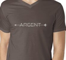 Argent [with arrow] Mens V-Neck T-Shirt