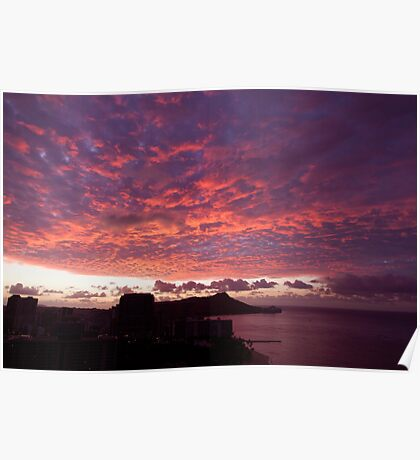 Dawn Over Oahu Poster