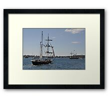 Tall Ships Departure, Fleet Review, Manly, Australia 2013 Framed Print