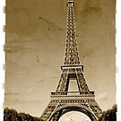 vintage eiffel tower sepia by sumners