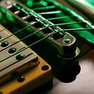 Electric guitar strings and bridge macro by sumners