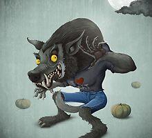 Halloween Wolfman by jordygraph