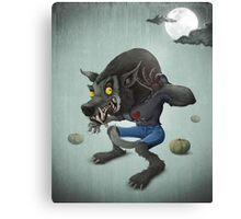 Halloween Wolfman Canvas Print